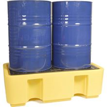 Two-Drum Polyethylene Spill Pallet AB2032
