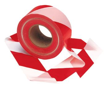 Red/White Striped Barrier Tape - 75mm x 500m BC1458