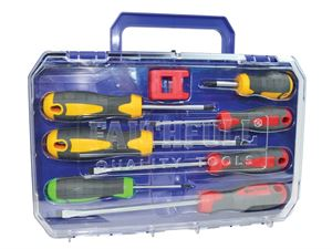 FAITHFULL Soft Grip Screwdriver Set -8 pieces with Magnetiser CT2959