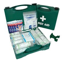 Standard First Aid Kit with Wall Bracket - 10 People FA3504