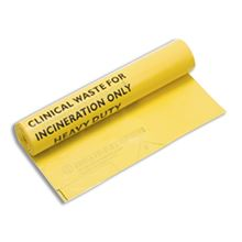 Clinical Waste Bag - Roll of 25 - 711x990mm - 9litres. FA3724
