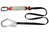 Webbing Lanyard with Shock Absorber and Scaffold Hook FP5414