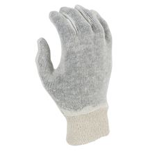 Mens Cotton Interlock Gloves - Knit Wrist GL3038