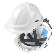 SCOTT SAFETY Deluxe Safety Helmet with Ratchet Headband HP7415