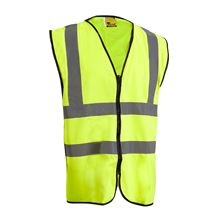 VELTUFF® 'Two-Band' Hi-Vis Vest with Zip Fastening HV2193