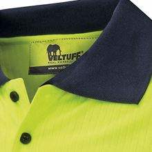 'Paddington' Ribbed-Knit Hi-Vis Polo Shirt HV3526