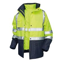 POLAR High Visibility Waterproof Contrast 5 in 1 Jacket HV5328