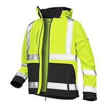 VELTUFF® Hi-Vis Two-Tone Softshell Jacket HV6516
