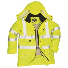 PORTWEST '7-in-1' Waterproof Hi-Vis Jacket HV6535