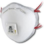 3M 8833 Disposeable Dust Mask P3 - Pack of 10) PP2899