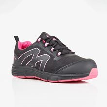 VELTUFF Ladies Black & Pink Lightweight Mesh Trainer SB SRC SF0110
