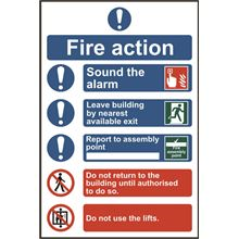 Fire Action Procedure - 200x300mm - PVC SK0178