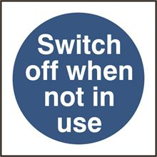 Switch off when not in use - 100x100mm - SAV SK11352