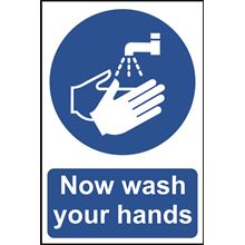 Wash Your Hands Sign - 200x300mm - RPVC CV19 SK11483
