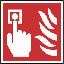 Fire Alarm - Symbol only - 100x100mm - SAV SK11690