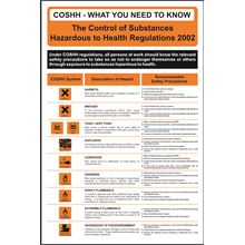 CoSHH - Safety Poster - 400x600mm - RPVC SK13366