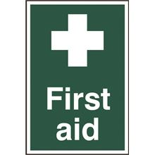 First Aid Sign- 200x300mm - PVC SK1550