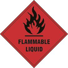 Flammable Liquid - Hazard Diamond - 100x100mm - SAV SK1850S