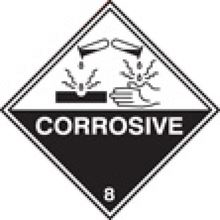 Corrosive 8 Label - SAV - 100x100mm SN1305