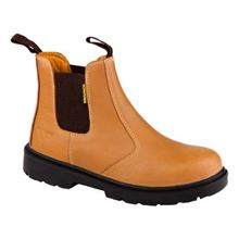 BROWN Safety Chelsea Boots S1P SRC VF0631